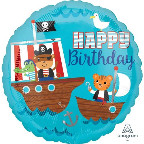 "18"" Pirate Ship Happy Birthday"